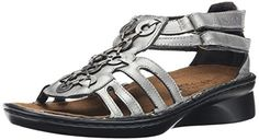 Naot Women's Trovador Wedge Sandal, Sterling Leather, 40 EU/8.5-9 M US >>> For more information, visit image link.