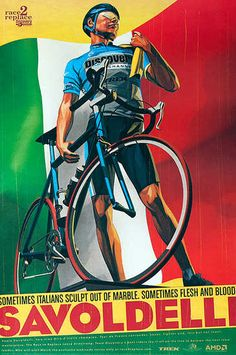 DP Vintage Posters - Race 2 Replace Original Team Discovery Bicycle Poster Paolo Savoldelli