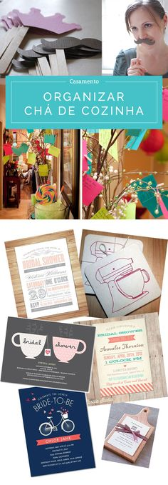Dicas para organizar o chá de cozinha: brincadeiras, convite, comes e bebes e muito mais. Clique na imagem para acessar o post completo!
