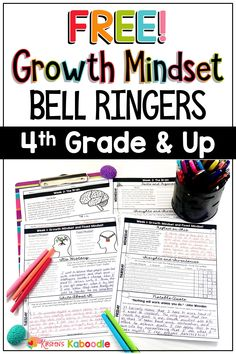 Got daily growth mindset activities for your grade, grade, or grade students? These morning work activities require no prep from the teacher! Elementary students (and middle school students) use these for morning work, as early finisher activit 4th Grade Activities, Early Finishers Activities, Fun Classroom Activities, New Years Activities, Writing Activities, Morning Activities, Growth Mindset Lessons, Growth Mindset Classroom, Growth Mindset Activities