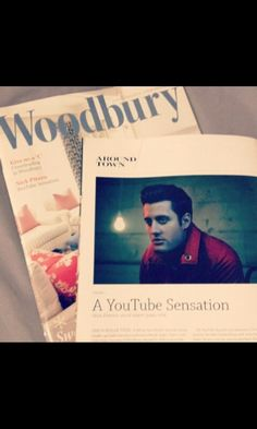 Nick in his hometown's magazine