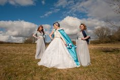 #badassbride #bridesmaids #disneybride #outdoorweddingportraits