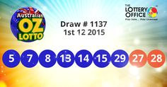 Australian Oz Lotto winning numbers results are here: #lotto #lottery #loteria #LotteryResults #LotteryOffice