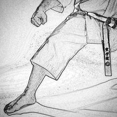 #zeichnung #drawing #karate #karatedo #shotokan #dojo #dan #meistergrad #budoka #kuroobi #blackbelt #kokutsudachi #gedanbarai http://ift.tt/1NFeDkK www.taikikan.de