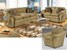 Saddle II Upholstery 3 Pc. Living Room   Furniture.com $1,099.99