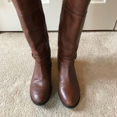 1f6a6342f8a0 Marc Fisher Shoes | Marc Fisher Tall Riding Real Leather Boots | Color:  Brown/Tan | Size: 7.5