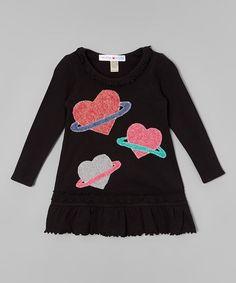 Look at this #zulilyfind! Black Planetary Love Dress - Infant, Toddler & Girls #zulilyfinds