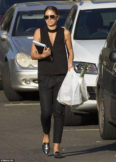 Jesinta Campbell (wearing Christian Dior sunglasses) - In Sydney. (3 December 2015)