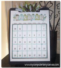 Clipboard Calendar PRINTABLES