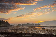 L'mage du jour : Lever de soleil sur Boédic dans le Golfe du Morbihan en Bretagne