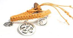 Hemp Jewelry Bracelet Yoga Time by HempaliciousWishes on Etsy