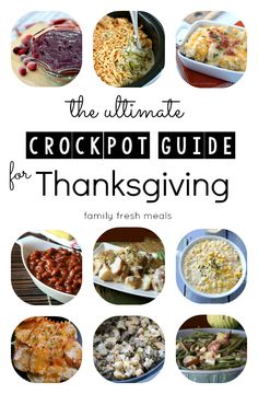 Must Try Thanksgiving Crockpot Sides - Crockpot Guide to Thanksgiving - FamilyFreshMeals