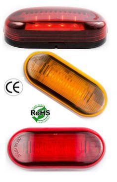 "4""x2"" Side Marker and Clearance Oval Sealed LED Light  Oval Style Side Marker and Clearance light. Available in Red, Amber, or Clear. Lens is poly carb material, giving it extra durability. Ideal for cars, buses, tow trucks, work vehicles, big rigs, transportation vehicles, public work vehicles, government work vehicles, or anything else in need of this style of light. Operates on 10-30 volts. DOT and Emark certified to ensure that your replacements are compliant"