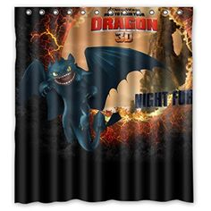 """LOVELIFE Train Your Dragon Waterproof Fabric Custom Shower Curtain 66"""" X 72"""" - Brought to you by Avarsha.com"""