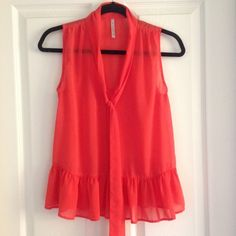 NWOT Sheer Top Salmon colored top; never been worn! Tops Blouses