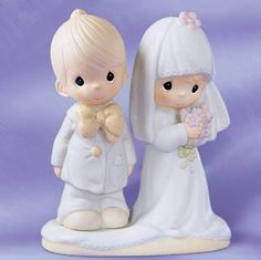 This was my cake topper 22 yrs ago. I still have the figurine. The husband, well that is a story for another time. Precious Moments Wedding, Wedding Toasting Glasses, Precious Moments Figurines, Vintage China, Wedding Cake Toppers, Future Baby, Wedding Things, Wedding Cards, Husband
