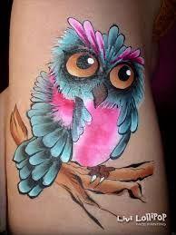 Bildergebnis für face painting owl