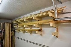 Wall Mounted Lumber Rack