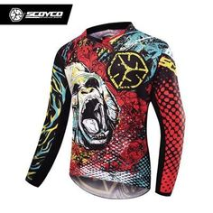 97202f20041 SCOYCO Professional Motorcycle Dirt Bike MTB DH MX Long Sleeve T-Shirt Tops  Breathable Motocross Off-Road Racing Jersey Clothing