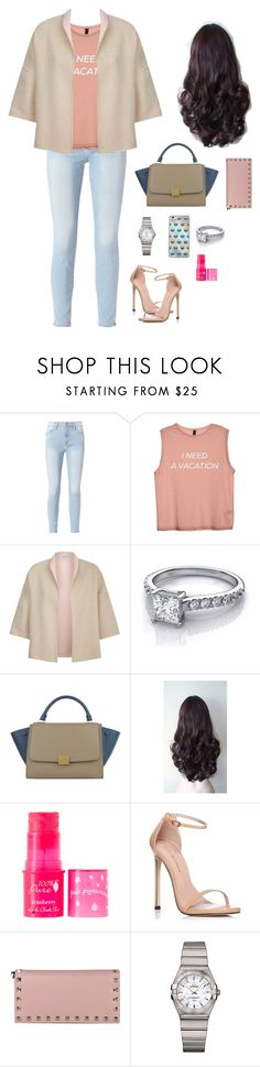 """Untitled #265"" by mentarijae on Polyvore featuring Frame, MaxMara, CÉLINE, 100% Pure, Stuart Weitzman, Valentino, OMEGA and Samsung"