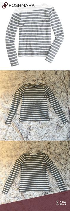 J. Crew Painter T-Shirt with Zips J. Crew Painter T-Shirt with Zips, blue and white, excellent condition, size XS. Bundle and save! J. Crew Tops Tees - Long Sleeve