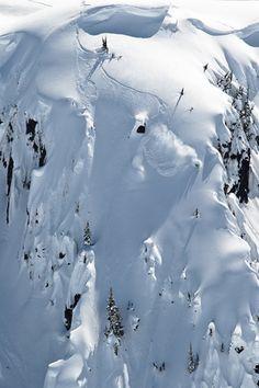 First tracks - Romaine de Marchi    #snowboarding