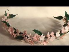 Como Montar Un Tocado De Flores De Porcelana - YouTube