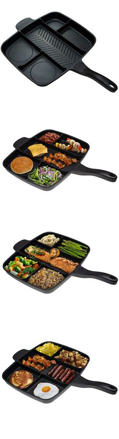 Why wait longer for cooking a complete meal when you can do all at once? Check it out==> | Master Pan Non-Stick Divided Grill/Fry/Oven Meal Skillet | http://gwyl.io/master-pan-non-stick/