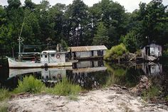 Fishing boat on a Louisiana bayou.