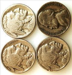 1935 1936 1937 Buffalo Nickel Coins + 1943 S Jefferson Silver War Time Nickel - 4 Coin Collection - Coinage Gift, Jewelry, U.S. Coins by EarthlyCrystals33 on Etsy