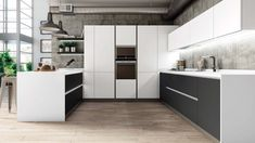 A Dance to the Music of Design White Gloss Kitchen, Green Kitchen, Kitchen Doors, Kitchen Cabinets, Matt And Blue, Handleless Kitchen, Kitchens And Bedrooms, Kitchen Gallery, Bauhaus