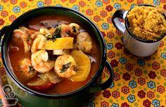 40 receitas com banana da terra para poder abusar dessa fruta Those Recipe, Fish And Seafood, Coco, Thai Red Curry, Carne, Low Carb, Eat, Cooking, Ethnic Recipes