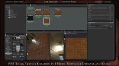 PBR Tiling Texture Creation in ZBrush, Substance Designer and Knald