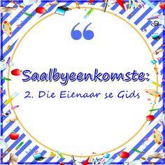 Saalbyeenkomste: 2. Die Eienaar se Gids Youth Ministry, Smallville, Afrikaans, Teaching Kids, Thankful, Christian, Posts, Children, Blog