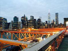 A Brooklyn Bridge View Empire State Of Mind, Brooklyn Bridge, San Francisco Skyline, New York Skyline, Nyc, Travel, Life, Viajes, Traveling