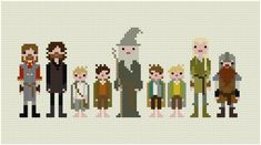 (10) Name: 'Embroidery : Pixel People -Fellowship of the Ring