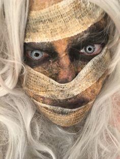 Mummy makeup by me Mummy Makeup, Creepy Clown Makeup, Cool Halloween Makeup, Halloween Horror, Costume Makeup, Halloween Make Up, Halloween 2018, Asylum Halloween, Creepy Guy