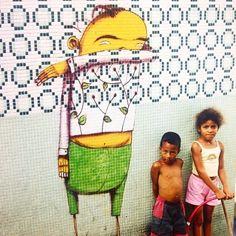 by Os Gemeos in São Paulo: