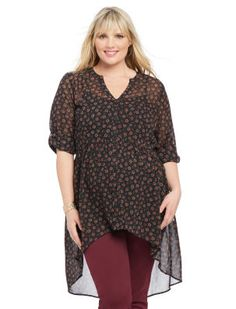 Plus Size Convertible Sleeve Convertible Sleeve Maternity Blouse