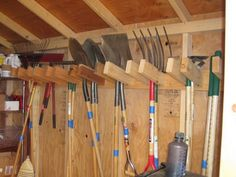 Top Incredible Shed Storage Ideas for Your Home - Ideen rund ums Haus - Awesome Garden Ideas Tool Shed Organizing, Storage Shed Organization, Barn Storage, Garage Storage, Diy Storage, Storage Hacks, Garage Shelving, Storage Solutions, Storing Garden Tools