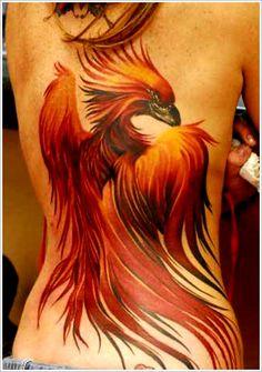 Bird Tattoo Designs: The Full Red Phoenix Bird Tattoo Designs And Meaning For Women On Back ~ tattooeve.com Tattoo Design Inspiration