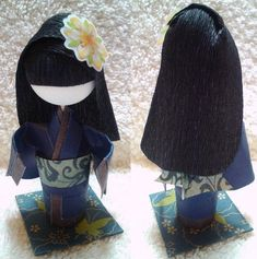3D Origami Kid Prize Doll - Girl with Long Hair --I think it's beautiful!