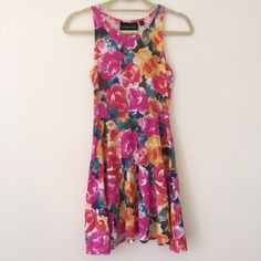 MINKPINK Dress MINKPINK floral skater dress. Like-new condition. Super light for summer. The top is tight (but stretchy material) and the skirt is flowy. MINKPINK Dresses Mini