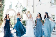"""The boldest babes who were born to be the bride's """"something blue. Wedding Colors, Wedding Styles, Wedding Ideas, Wedding Decor, Wedding Stuff, Dream Wedding, Fall Wedding, Blue Country Weddings, Bridal Gowns"""