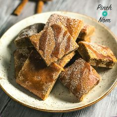 Low Syn Cinnamon Drizzle Squares   Slimming World