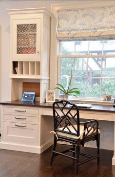 Desk In Front Of Bay Window