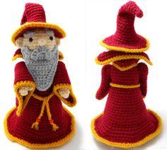 Red Wizard Crochet Amigurumi by CraftyTibbles