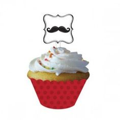 Mustache Madness Cupcake Wrappers