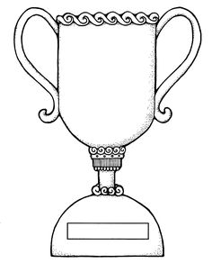 Trophy Coloring Sheet Coloring Pages Coloring Sheets, Coloring Pages, Diy Trophy, Lds Clipart, Scripture Mastery, Football Trophies, Teaching Techniques, Object Lessons, White Image