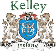 Kelley coat of arms. Irish coat of arms for the surname Kelley from Ireland. View your coat of arms at http://www.theirishrose.com/#top_banner or view the Kelley Family History page at http://www.theirishrose.com/pages.php?pageid=43